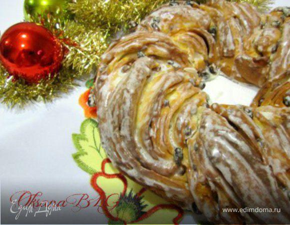 """Рождественский венок """"Анжелика"""" (""""Angelica"""" от Sorelle Simili)"""