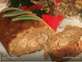 Мясной рулет с колбасками и картофелем