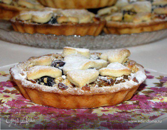 Бельгийские тарталетки с фруктово-ореховой начинкой