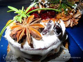 Английский рождественский фруктовый кекс