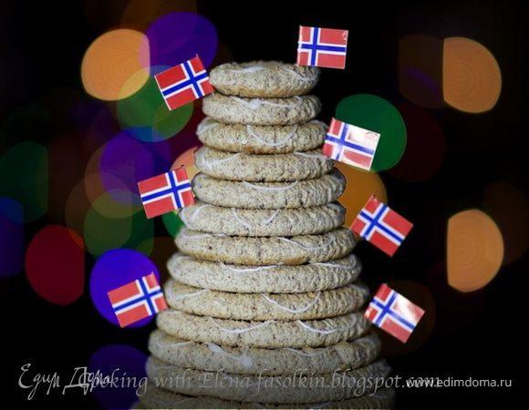 Норвежский миндальный торт