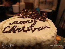Рождественский торт. Бисквит в мультиварке
