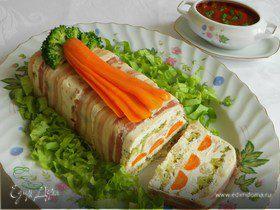 Творожный террин с томатным соусом