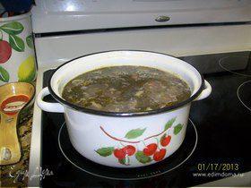 Суп перловый с грибами (Mushroom Barley Soup)