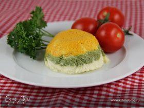 Трехцветный овощной мусс