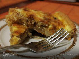 Луковый пирог с квашеной капустой