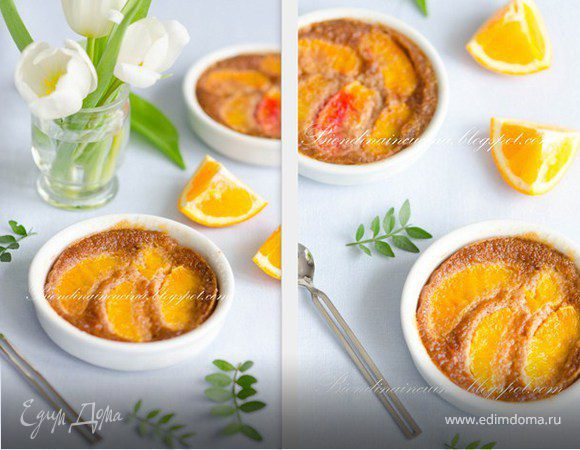 Шоколадный клафути с апельсином и фундуком