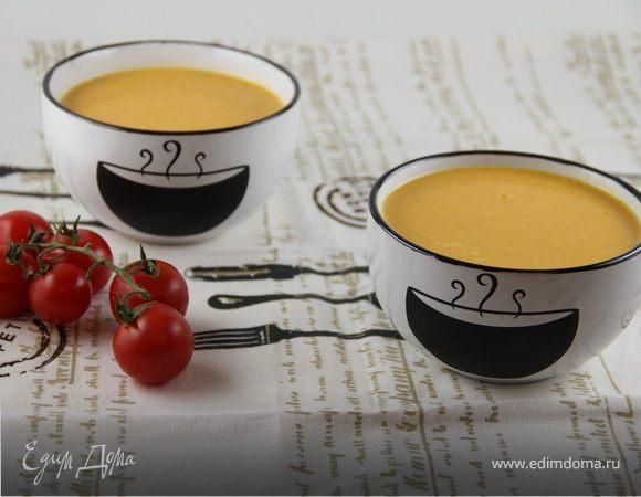 Тыквенно-морковный суп-пюре с кокосовым молоком и имбирем