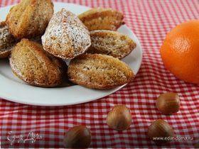 """Медовые """"мадлен"""" с фундуком, корицей и апельсиновой цедрой"""