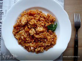 Филе куриной грудки, запеченное с рисом и овощами «Скорый поезд на Луизиану»