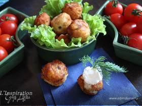 Картофельные крокеты с сельдью