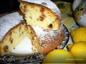 Ароматный лимонный кекс с изюмом