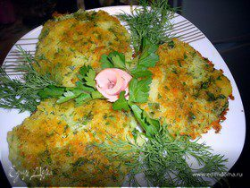 Картофельные лепешки с сыром и зеленью