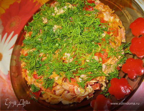 Салат петергоф рецепт с фото