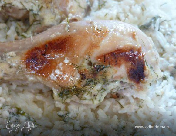 Жареный цыпленок в сливках