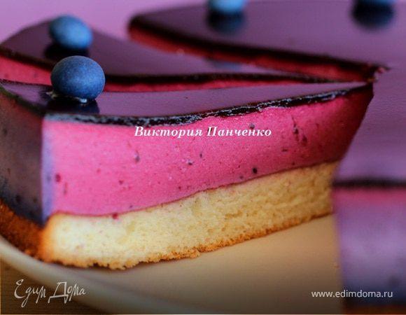 Торт с муссом из черной смородины (Black Currant Cake)