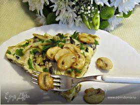 Грибная фриттата с картофелем и луком-пореем