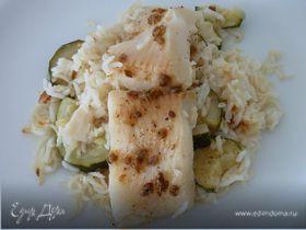 Пикантная рыба с лимонным рисом