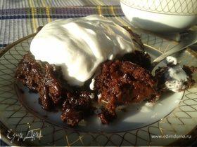 Сливочно-шоколадный кекс-пудинг по старинному рецепту