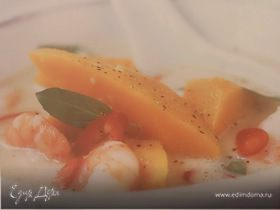 Кокосовый суп с Тыквой и креветками