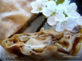 Штрудель с яблоками и грибами «Ирония судьбы»