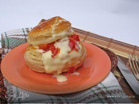 Французская слойка с яйцом пашот