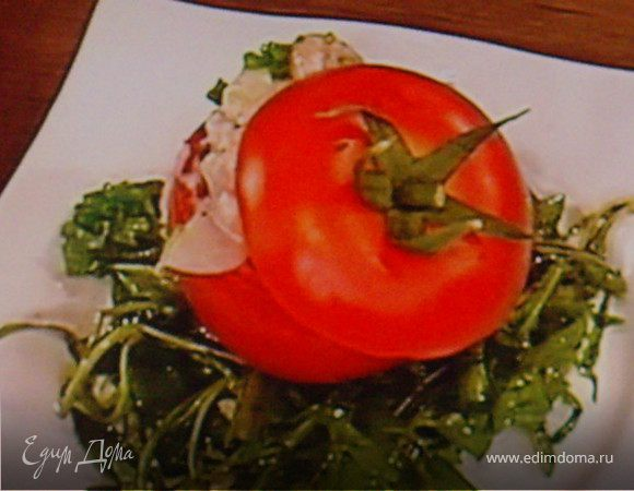 Помидоры, фаршированные крабовым салатом