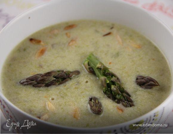 Легкий суп из спаржи
