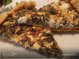 Слоеный пирог со шпинатом и фетой