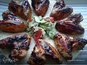 Куриные крылышки с кленовым сиропом и горчицей