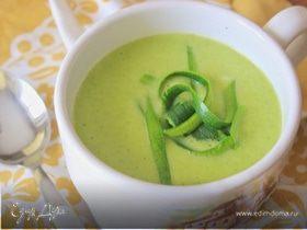 """Суп с цукини и пореем (""""Холодные супы"""")"""