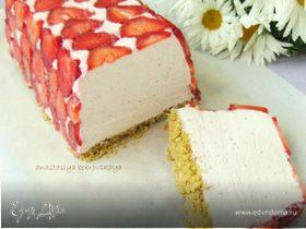 Клубничный творожно-сливочный десерт