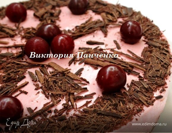 Вишнево-шоколадный торт-мусс