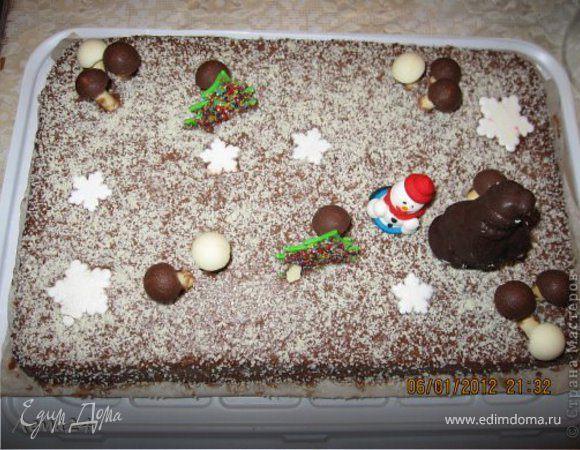 """Торт """"Зимняя поляна"""""""