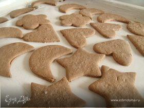 Имбирное печенье с темной мукой