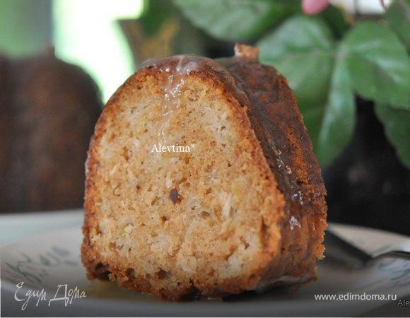 Яблочный кекс с глазурью