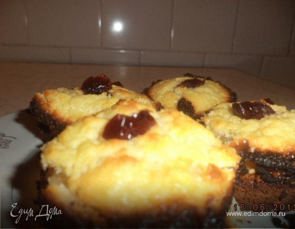 Маффины с белым шоколадом и творожной начинкой
