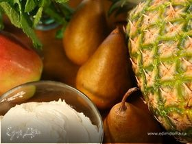 Жареные фрукты с маскарпоне