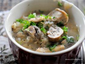 Суп грибной с шиитаке и шампиньонами