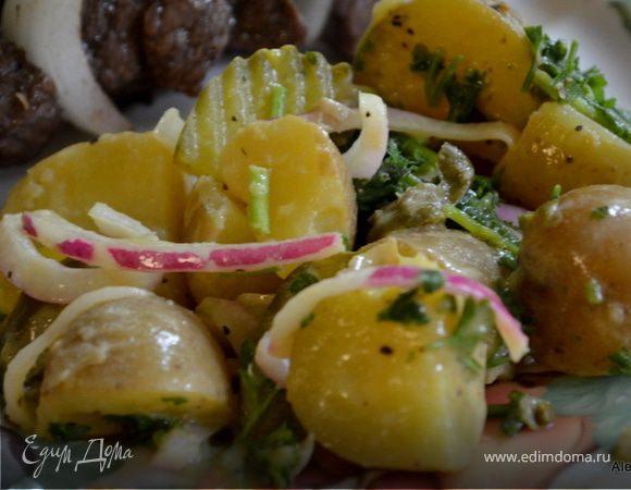 Салат картофельный с горчицей