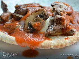 Говядина с грибами и луком