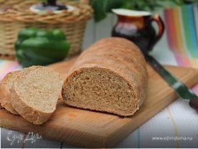 Хлеб с ржаными отрубями на опаре