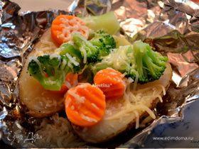 Картофель в фольге в духовке