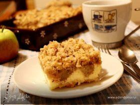 Хрустящий творожный пирог с яблоками