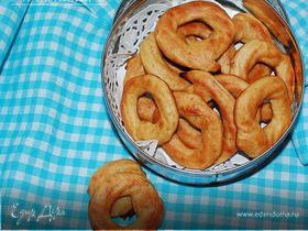 Манговые колечки с арахисовым маслом