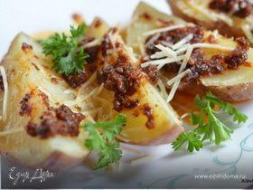 Картофель в заправке с вялеными помидорами