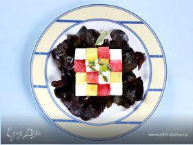 Салат из арбуза с брынзой и авокадо