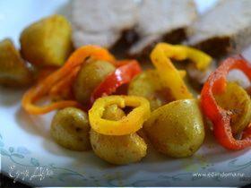 Картофель со сладким перцем