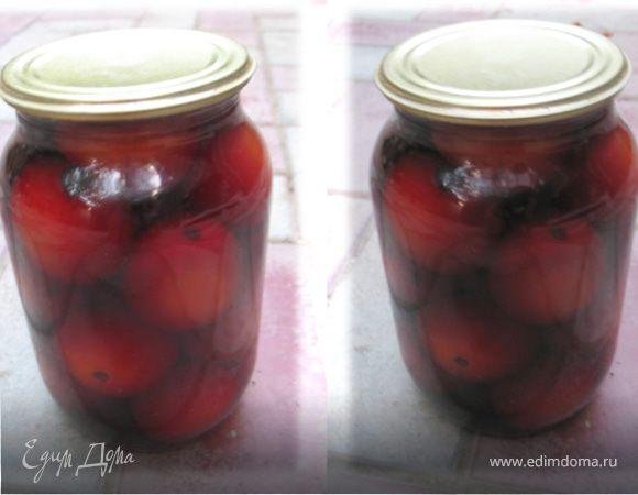 Консервированные помидоры в красном вине