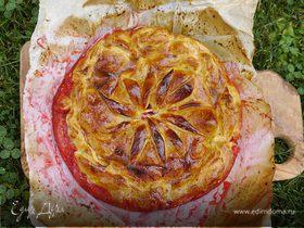 Хрустящий сливовый пирог